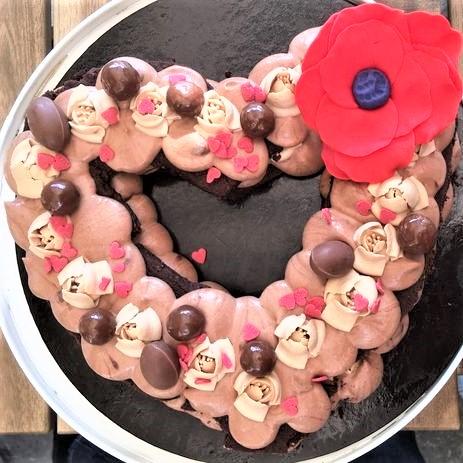 number cake st valentin