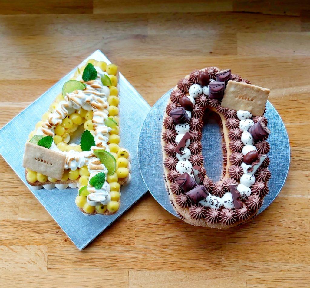 Numbercake d'anniversaire mojito - cake design chiffre bueno - patisseetmalice