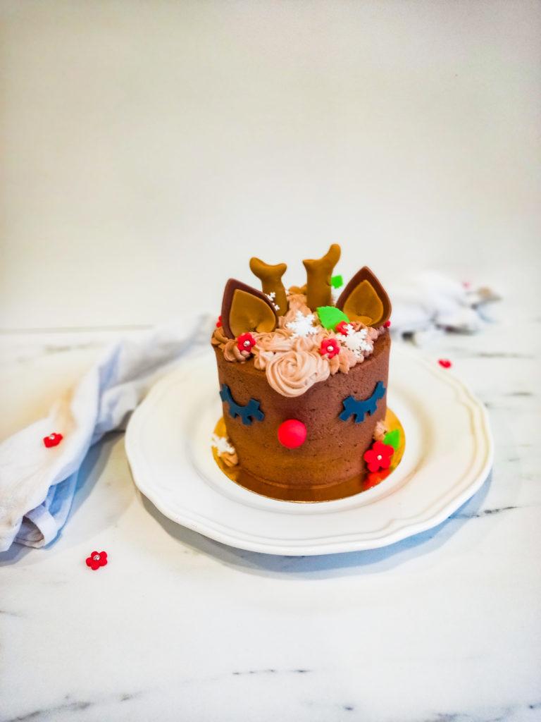 cake design licorne - renne de noel - patisse et malice
