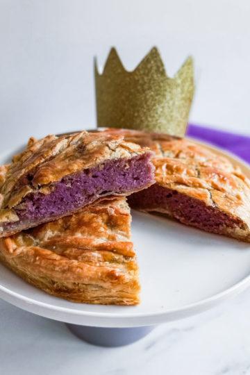 galette des rois frangipane violette découpe patisseetmalice