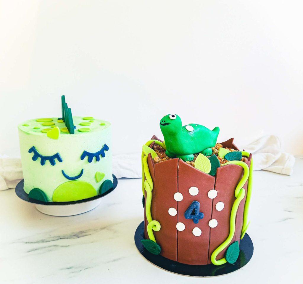 cake design et layercake dinosaure - patisse et malice