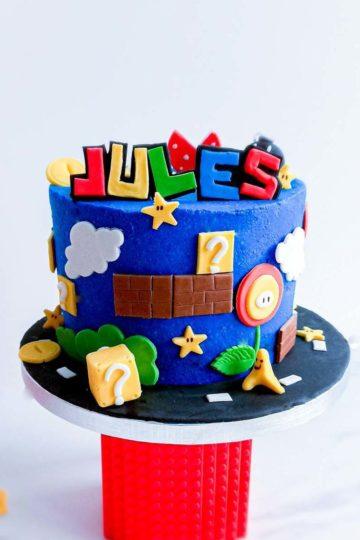 gateau personnalisé anniversaire Mario - patisse et malice