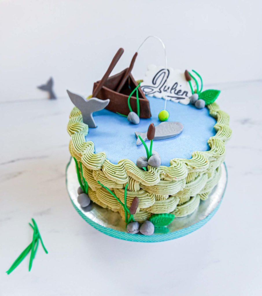 Cake design fan de pêche - gateau personnalisé - patisse et malice
