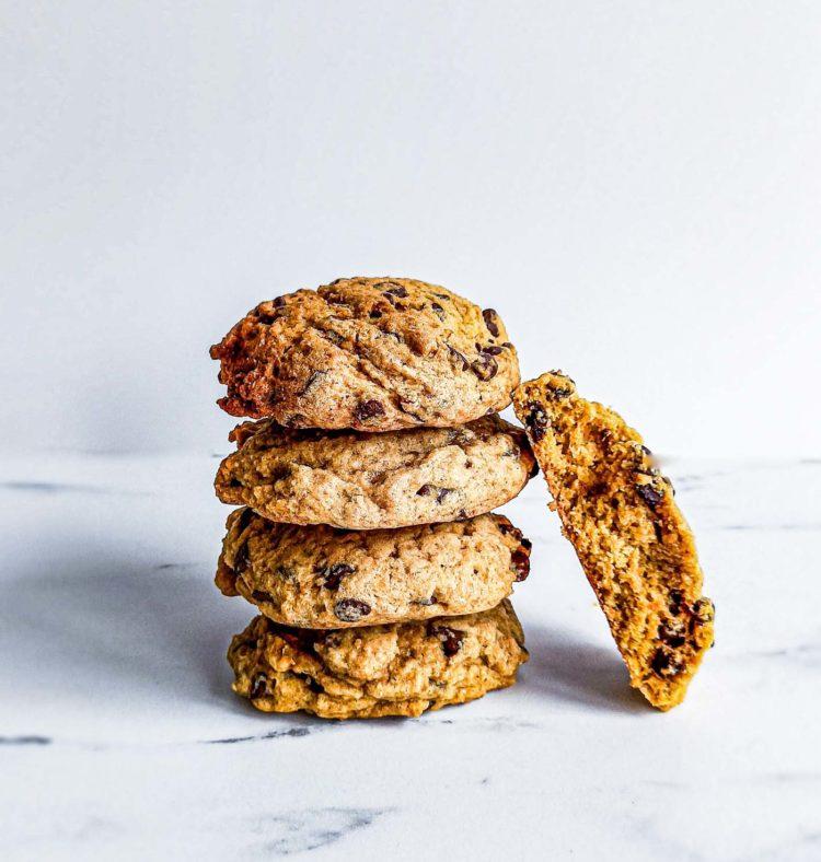 Cookie potiron choco moelleux - patisse et malice