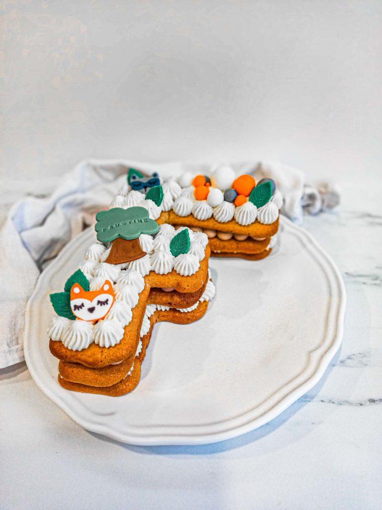 Lettercake renard de printemps - patisse et malice