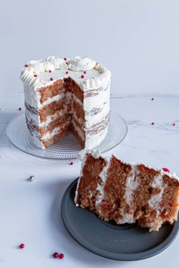 carrot cake nakedcake - découpe - patisse et malice