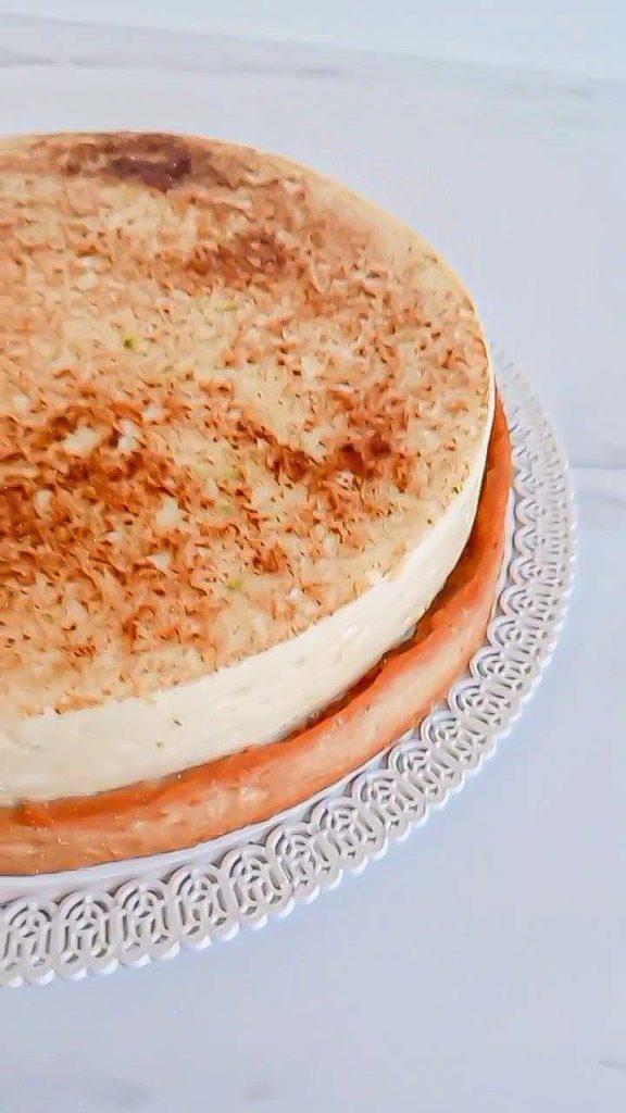 tarte chiboust framboise ou rhubarbe - patisse et malice