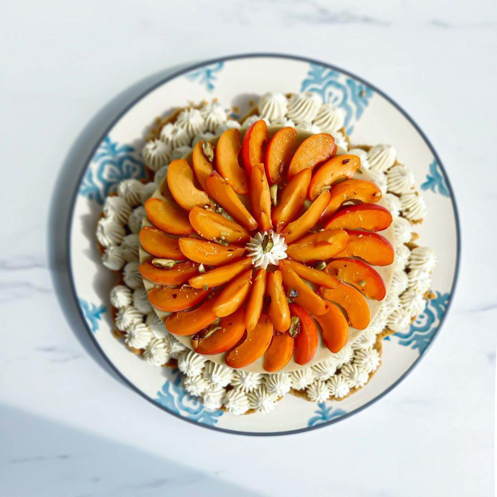 tarte supra sablée ganache vanille abricot - patisse et malice