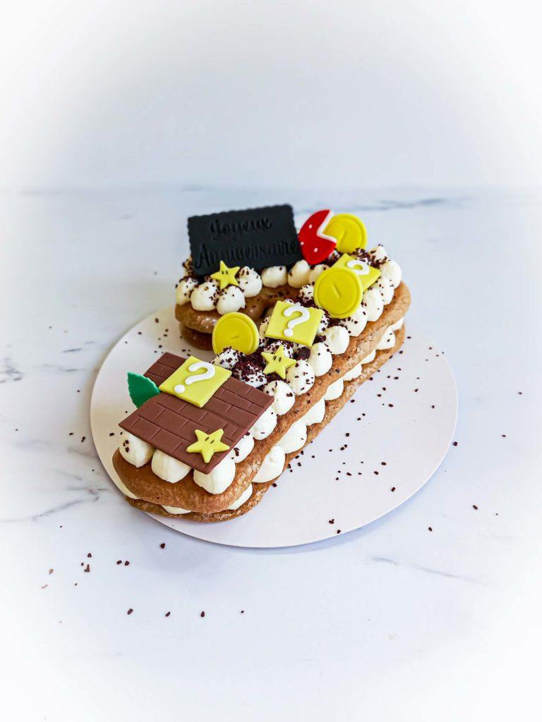 Numbercake choco thème Mario - Patisse et Malice