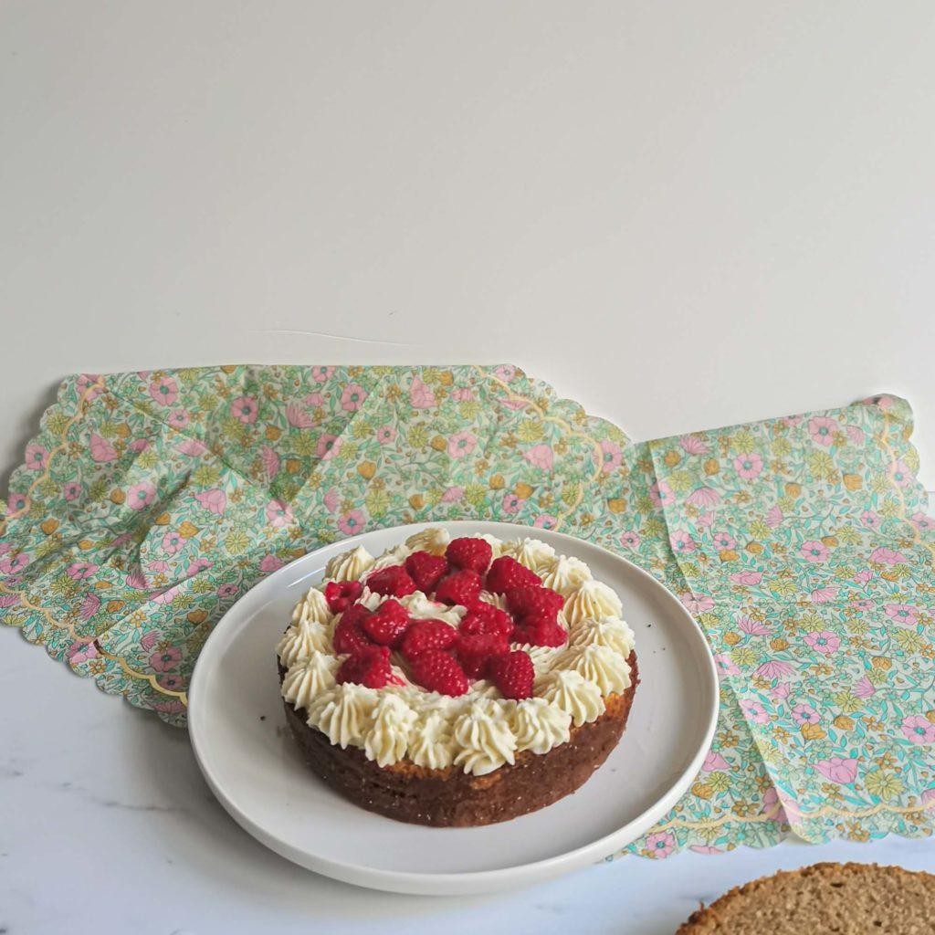 layercake the matcha framboise - couche 1 - patisse et malice
