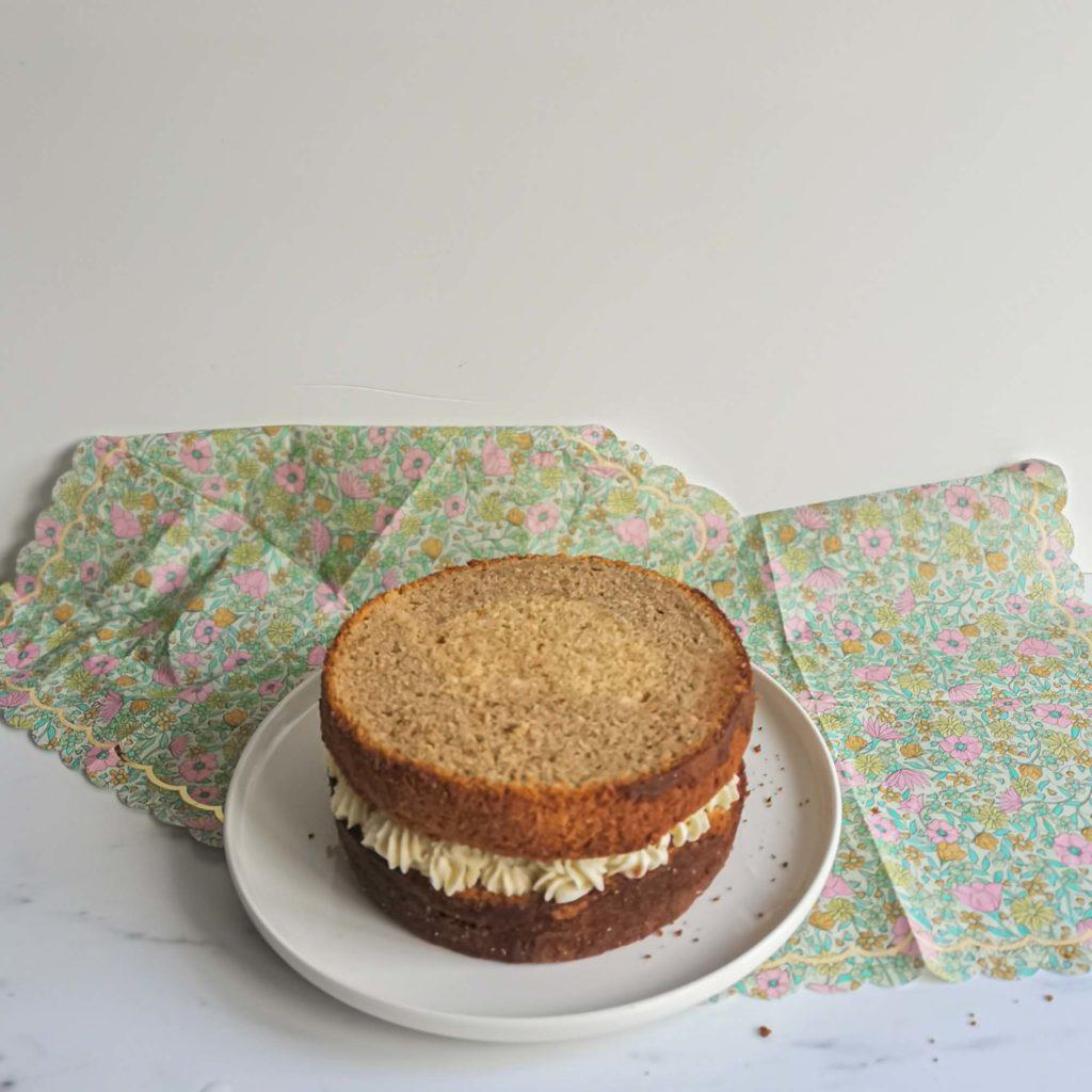 layercake the matcha framboise - couche 2 - patisse et malice