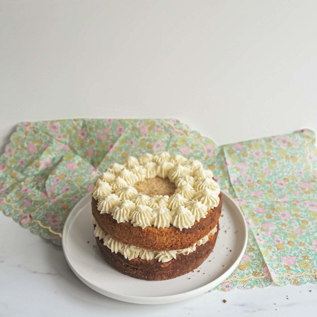 layercake the matcha framboise - pochage ganache - patisse et malice