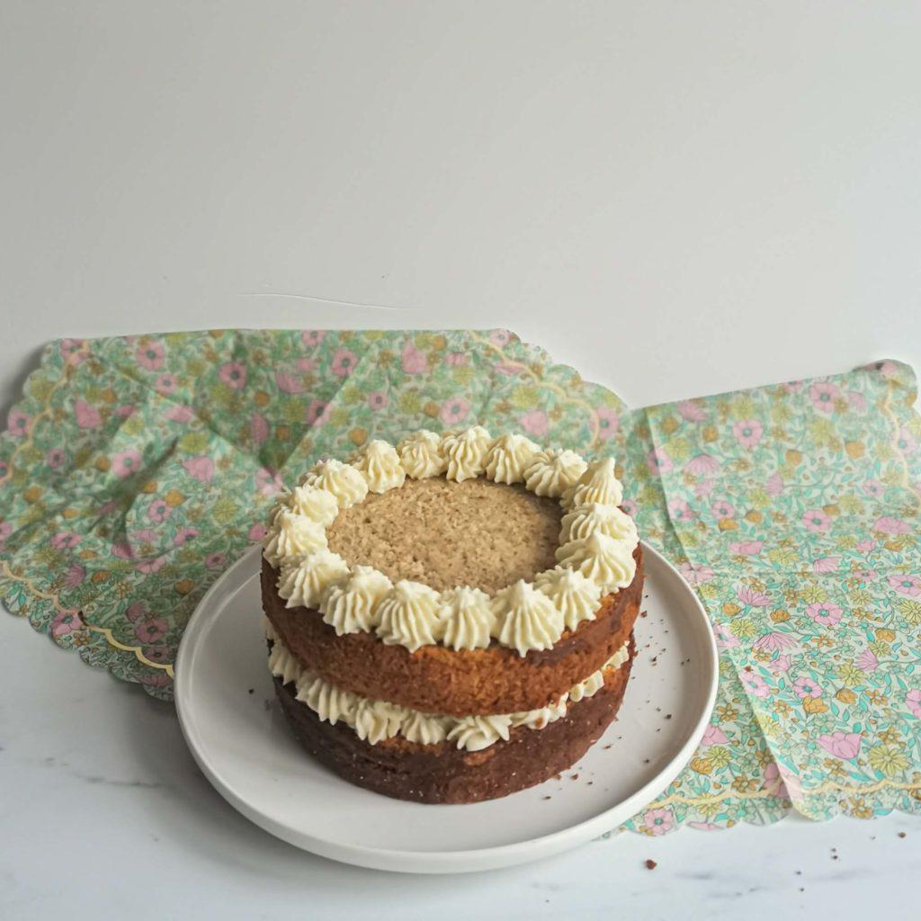 layercake the matcha framboise - pochage ganache vanille - patisse et malice