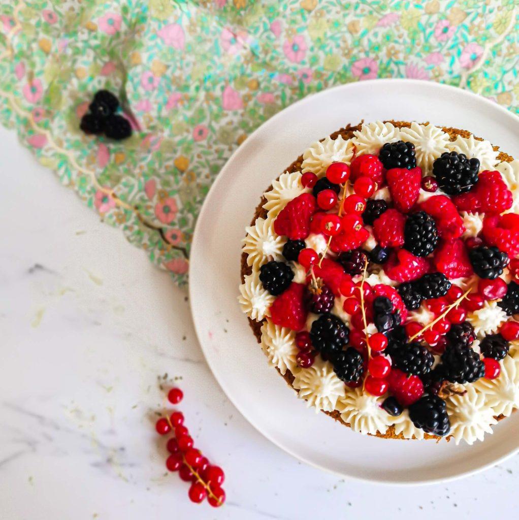 layercake the matcha framboise - vue de dessus - patisse et malice