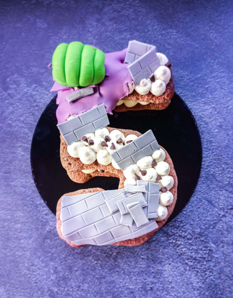 numbercake avenger hulk - patisse et malice