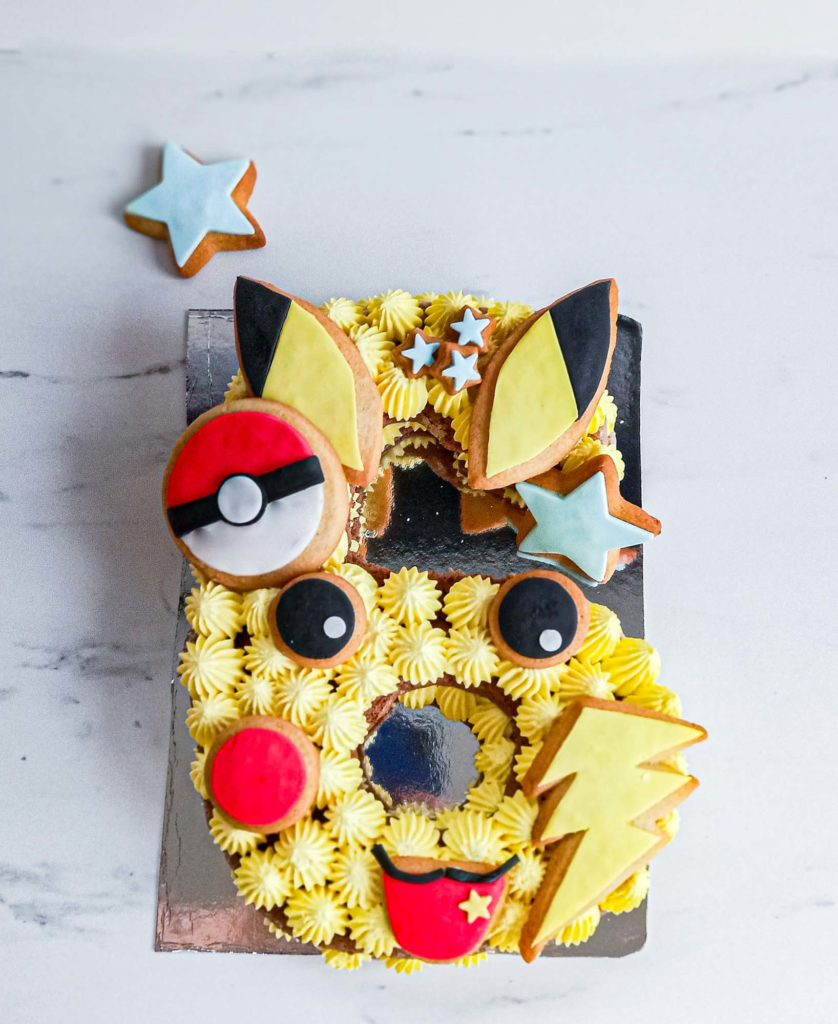 numbercake pokemon pikachu - patisse et malice