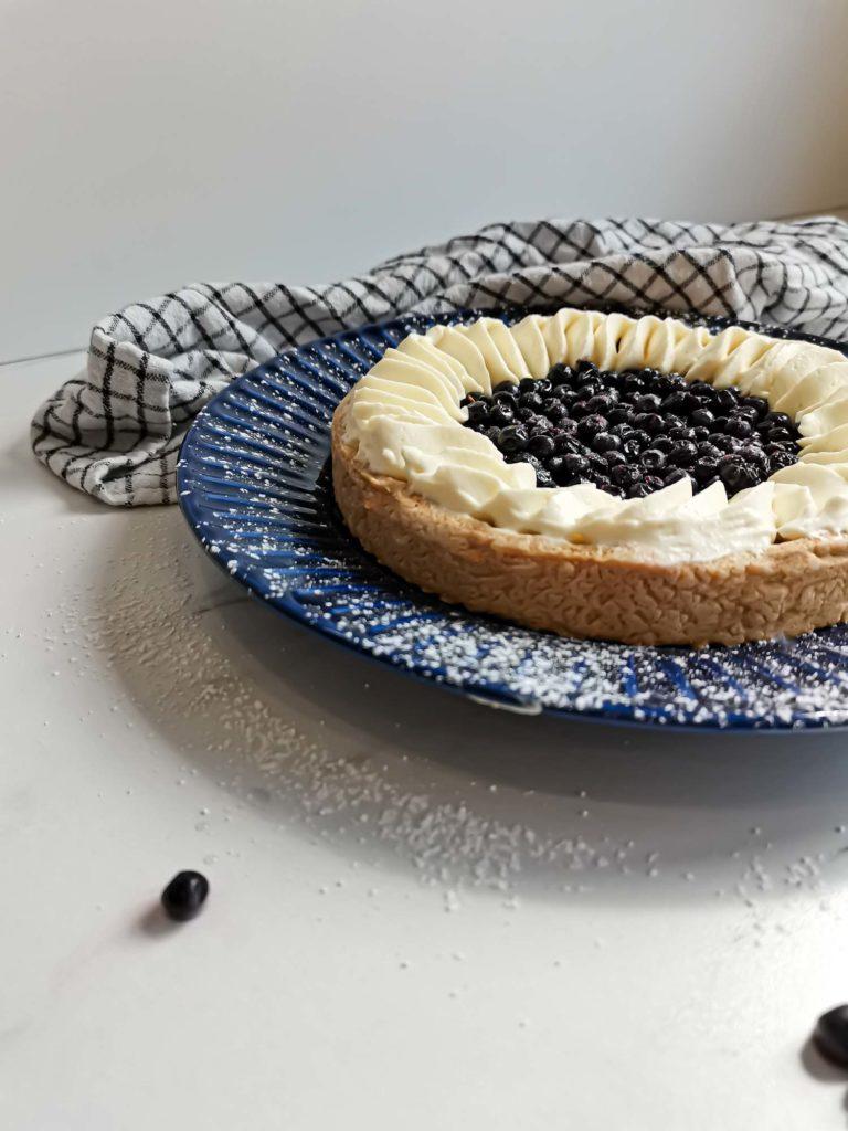 tarte aux myrtilles sauvages gourmande profil - patisse et malice